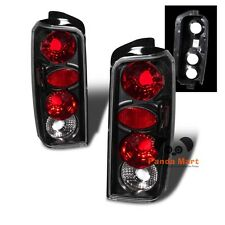 Tail Lights FOR 1997-2001 Jeep Cherokee Rear Brake Lamps BLACK Taillights