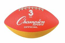 New Champion 3 lb. Weighted Training Practice Football Throw Strengthen Arm Grip