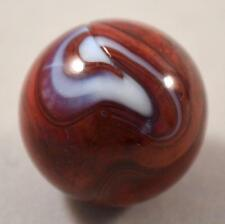 "RARE BIG VINTAGE M.F. CHRISTENSEN & SON OXBLOOD BRICK MARBLE   27/32"" (.834"")"