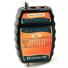 RJ12 RJ45 CAT5/CAT6 Telephone/Network RG6 Coax Cable Tester Continuity Tool New