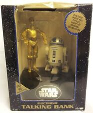 STAR WARS : C-3PO & R2D2 ELECTRONIC TALKING BANK MADE IN 1995