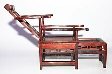 MINI Dolls House Miniature Oriental Furniture Rosewood Antique chaise longue