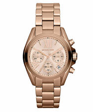 NEW MICHAEL KORS MK5799 LADIES ROSE GOLD BRADSHAW MINI WATCH - 2 YEAR WARRANTY