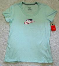 NIKE Size XL 16  Womens Mint  tee tshirt logo cotton top  NEW