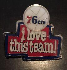 NBA Philadelphia 76er's Logo Pin, Badge, Lapel 'I Love This Team'