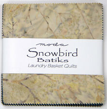 "Moda FABRIC Charm Pack ~ SNOWBIRD BATIKS ~ by Laundry Basket 40 -  5"" squares"