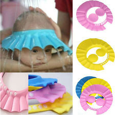 Adjustable Child Kid Baby Shower Cap Bathing Cap Washing Hair Hat Random Color