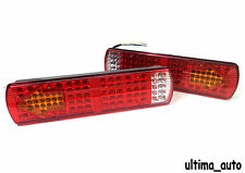 PAIR OF 12V REAR STOP 84 LED LIGHTS INDICATOR FOG LAMP TRAILER TRUCK TIPPER