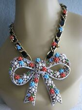 BETSEY JOHNSON FARMHOUSE HUGE BOW STATEMENT NECKLACE~NWT~RARE