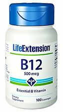 Life Extension B12, 500 Mcg, 100 dissolving lozenges
