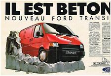 Publicité Advertising 1986 (2 pages) camionnette Fourgon Utilitaire Ford Transit