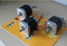 3 pcs Nema 23  stepper motor 0.9 degree 1.7A  125 oz.in CNC