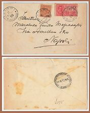 53965 - ITALIA REGNO - Storia Postale: FLOREALE + ESPRESSI su BUSTA da MAIORI