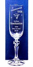 Engraved/Personalised GRADUATION Mirelle Champagne Flute Glass Gift Present
