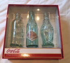 Coca Cola 3 Piece Evolution bottle set COKE