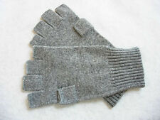 Heather Gray Grey Unisex 100% Cashmere fingerless gloves half finger
