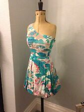 BNWT PRETTY LOVE LABEL ONE SHOULDER VINTAGE INSPIRED DRESS UK12 rrp£30