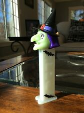 Glow in the Dark Witch Pez Dispenser Purple Hair Bats Halloween Feet Collectable