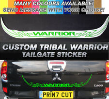 Mitsubishi L200 Warrior CUSTOM tribal Rear Tailgate decal sticker, barbarian