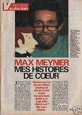 Coupure de presse Clipping 1990 Max Meynier  (3 pages)
