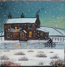 JUST MADE IT original oil painting james downie