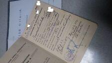 Lambretta 125 1954 Libretto originale uso collezionistico più Visura in bianco