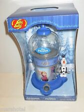 "JELLY BELLY DISNEY FROZEN MOVIE ELSA ANNA OLAF 10"" JELLY BEAN DISPENSER MACHINE"
