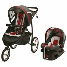 Graco 2015 Fastaction Fold Jogger Click Connect BABY TRAVEL SYSTEM, Chili Red