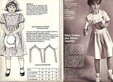 PATRON DE COUTURE Robes fraîches pour fillettes coquettes taille  6 à 10 ans