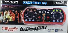 DJ Tech POKETDJDUO USB DJ MIDI Controller w/ Integrated Soundcard