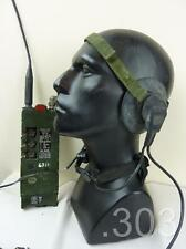 British Army Military Transmitter Receiver RT-349 Radio & Headset, Mic