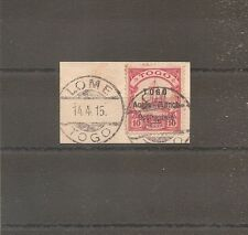 TIMBRE TOGO GERMAN KOLONY OCCUPATION ANGLO-FRANCAISE CACHET LOME 14/04/1915 SIGN