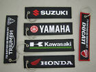 Embroidered Logo Motorcycle Keychain Motorcycle Key Fob Carabiner Keyring