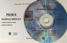 PRINCE CD Purple Medley USA PROMO Only 2 Track 1995 Ext. 11 Minute vers UNPLAYED