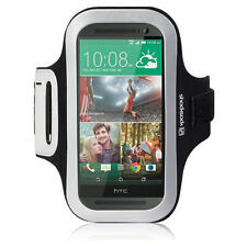 For HTC One M8 (2014) Shocksock Black Reflective Sports Jogging Gym Armband