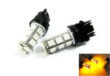 2x Amber 18 SMD LED 3157 3156 Front Turn Signal Light For Dodge High Power Bulb