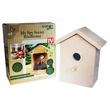 WINDOW WATCH BIRDHOUSE WOODEN SECRET GARDEN BIRD NESTER HOUSE BOX NEST NESTING