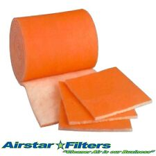 Orange Bonded Tackified 12 sq. ft. Media Roll Air Filter / Aquarium / HVAC