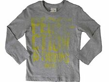 NWT Diesel Kid's Tupiyti Slim Long sleeve T-Shirt Stone Gray SIZE XL X-LARGE