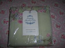 NIP Rachel Ashwell Simply Shabby Chic Blush Beauty Green Bouquet Twin Duvet Set