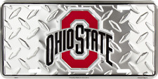 Ohio State Buckeyes Diamond Embossed License Plate Made in the USA
