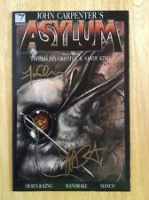SIGNED x3 John Carpenter's Asylum Comic Issue #8 New Olsen Sandy King + Pic