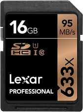 Lexar 16GB 633x Professional UHS-I U1 SDHC Class 10 High-Speed Pro Memory Card