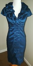 Adrianna Papell Women's Size 4 Cocktail Evening Formal Dress Ruffle EUC B1