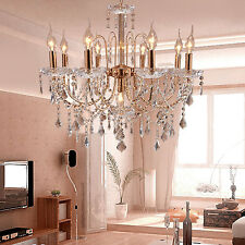 Modern Delicate Crystal Ceiling Light Superior Luxury 9 Lamp Lighting Chandelier