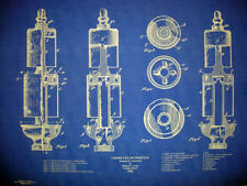 "Antique Crane Company Brass Steam Whistle Blueprint Plan 19""x28"" (219)"