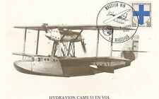 CARTE POSTALE AVIATION HYDRAVION CAMS 53 EN VOL MARSEILLE 1985