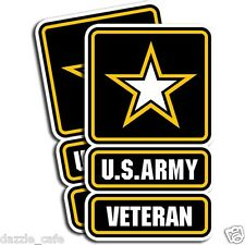 "U.S. Army - Veteran Sticker  -  Military Dye Cut Decal - 2 Pack 3""x5""  MR 044"