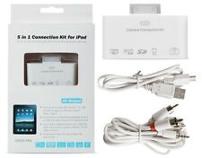 5 in 1 iPad Connection Kit Camera Computer TV USB/MicroUSB SD/MicroSD A/V