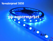 5M 5050 blue  NO-Waterproof 300 LED Flexible Tape Strip Light DC12V